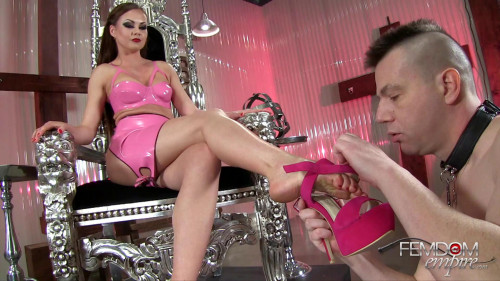 Femdom and Strapon Arrogant Princess Foot Worship