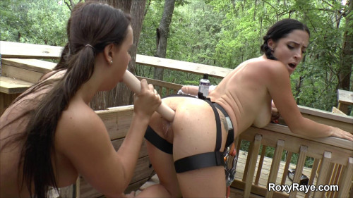 Fisting and Dildo Naked Zip Lining Into My Lesbian Treehouse