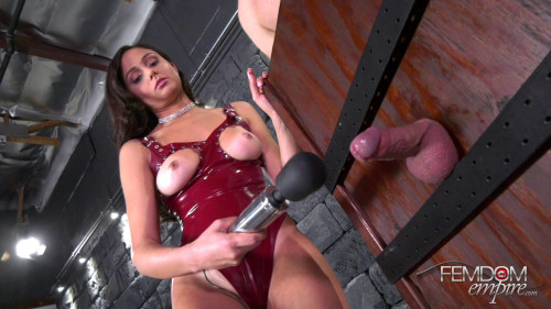 Femdom and Strapon Edging Vibrations