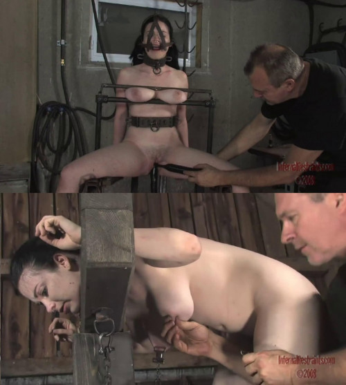 BDSM Tight bondage, spanking and torture for sexy naked whore