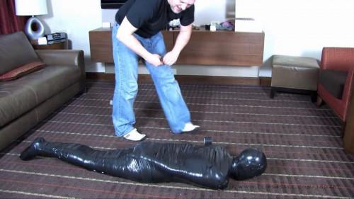 BDSM Latex Super bondage, domination and mummification for horny bitch Full HD 1080p