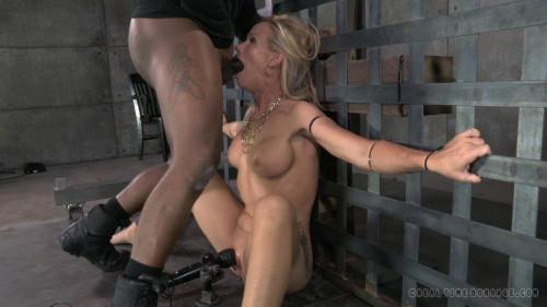 BDSM Stunning Simone Sonay ziptied down, brutal blowjobs on BBC