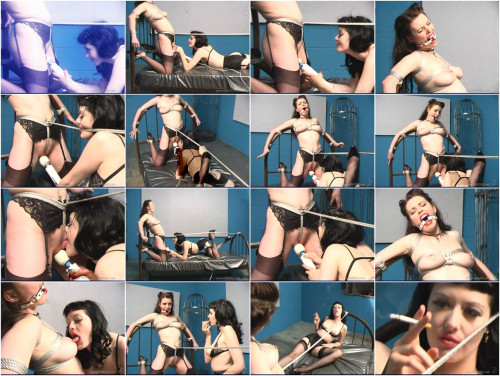 Femdom and Strapon Latex dolls scene3