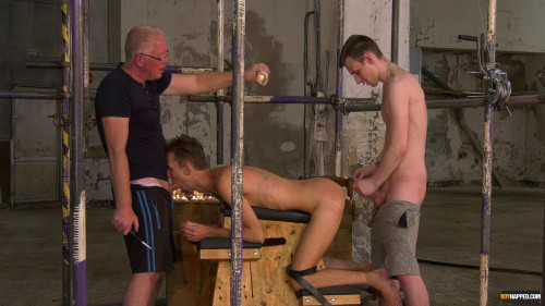 Gay BDSM Making The New Boy Greedy For Cum Part 2