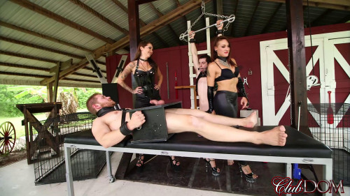Femdom and Strapon Mistresse Milking Humiliation