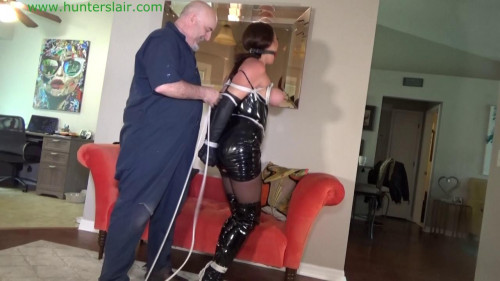 BDSM Latex Tightly tied tits for the Asian wench