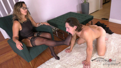 Femdom and Strapon Demoted to Doormat