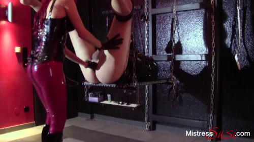 Femdom and Strapon MistressSusi - Strap-on fuck and milking on the swing