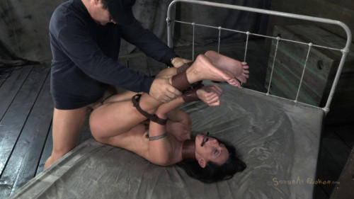 BDSM Sexy Gymnast gets roughly fucked & deep throated