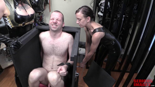 Femdom and Strapon Rubber Duo