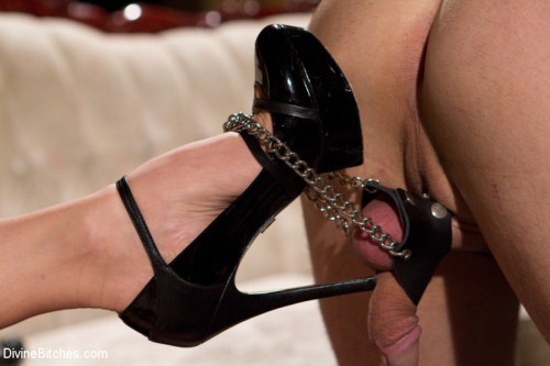 Femdom and Strapon Red Hot Wet Tease