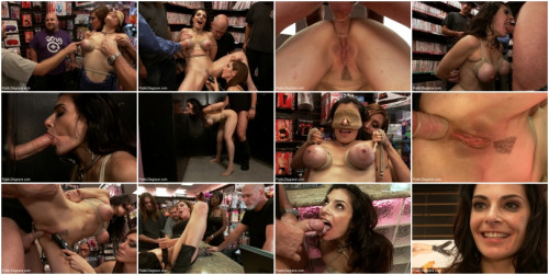 BDSM Hot MILF With Big Tits Gets Disgraced and Ass Fucked in Porn Store