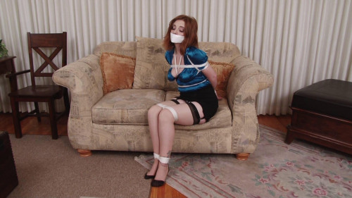 BDSM HD Bdsm Sex Videos Ginger Sparks Bound in Girdle and Stockings