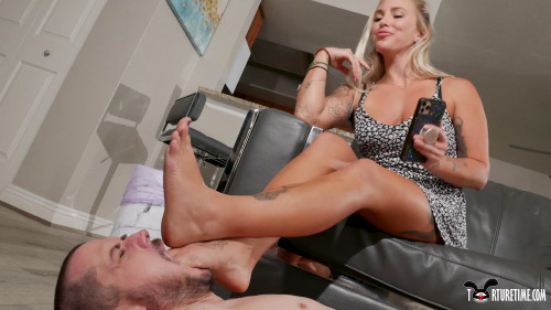 Femdom and Strapon Torture Time - How My New Roommate Became My New Foot Slave