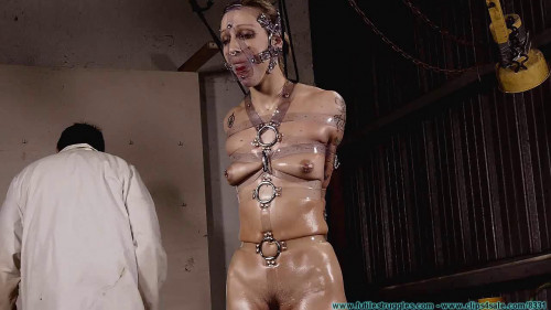 BDSM Dr. Cupcakes Binds IR with His New Clear Polymer Straps - Part 2