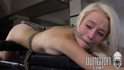 BDSM Super bondage, domination and torture for sexy young blonde