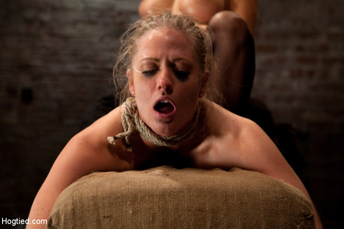 BDSM Holly gets anal fucked by Isis Love, and skull fucked from The Williams. Made to cum over an over!