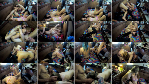 Transsexual Trans Orgy with Amateur Redhead