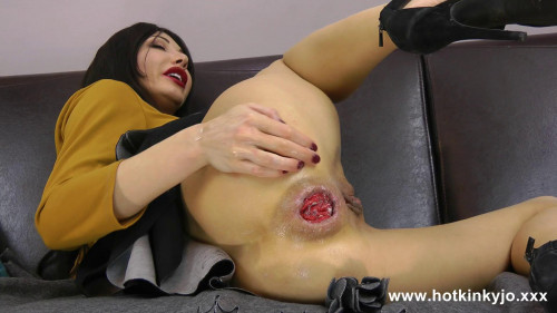Fisting and Dildo Sexy Hotkinkyjo self anal fisting and prolapse