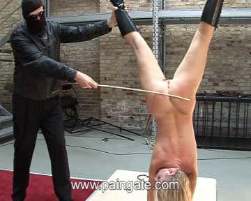 bdsm Extreme upside down suspension bullwhipping of jane