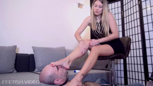 Femdom and Strapon Back At Home - Foot Worship And Humiliation