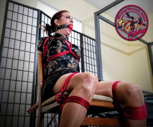 BDSM ShinyB - Sarah Brooke.. Cheongsam Chairtied