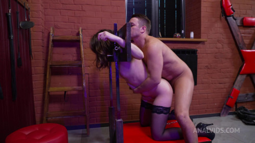 Devilishly beautiful Kristi and the excitation from anal destruction! Anal waterfall