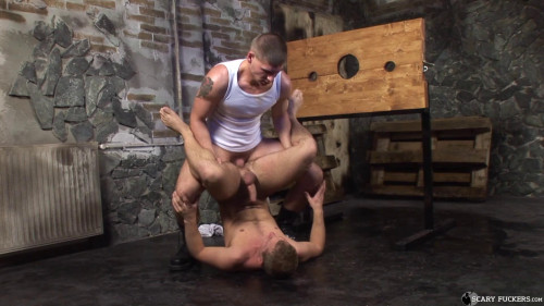 Gay BDSM Skinheads Torture Room, Scene 01