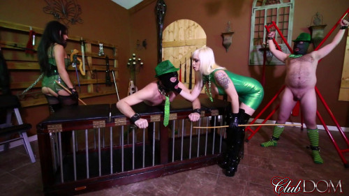 Femdom and Strapon Leprechaun Slaves Are Good For Something (28 Mar 2017)
