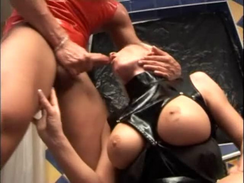 Femdom and Strapon Latex Sex Therapy