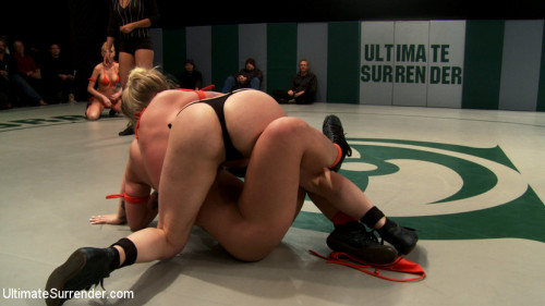 Femdom and Strapon 4 girl un-scripted Tag Team wrestling! Shot live, in front of a public audience Brutal sexual action