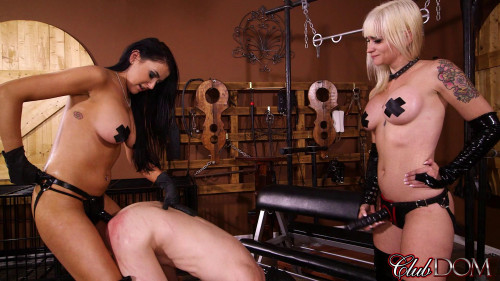 Femdom and Strapon Toy for 2 Sadists Part 2