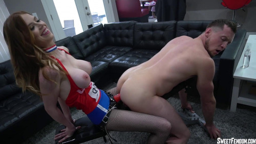 Femdom and Strapon Olympic Pegging with Pepper Hart