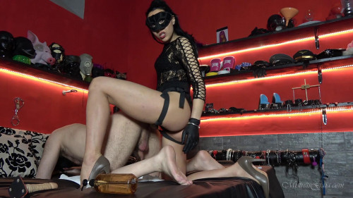 Femdom and Strapon Mistress Gaia Ass Fuck