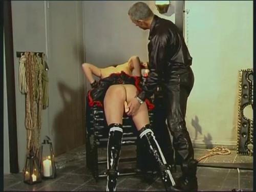 BDSM Latex Mit Gehangen Mit Gefangen