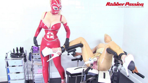 BDSM Latex Rubber Doll Inspection