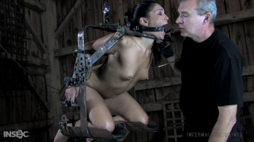 BDSM Tight bondage, spanking and torture for naked sexy bitch part 3