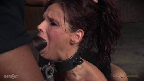 BDSM SexuallyBroken  Big breasted sexy Milf Syren de Mer in relentless live action bound