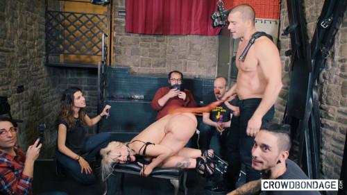 BDSM Blondie Fesser - Curvy Blondie dominated in BDSM group scene (2020)