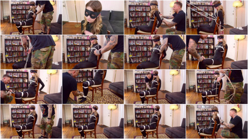 BDSM ShinyB - Chrissy Marie.. Thief Caught and Chairtied