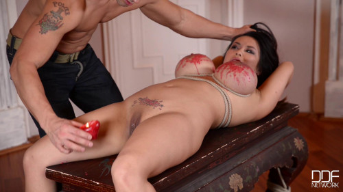 bdsm Thick buttocks of the busty Japanese of Tigerr Benson bang the anal unit