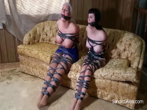 BDSM SandraSilvers - Beautiful, Buxom MILF Captives Totally Taped