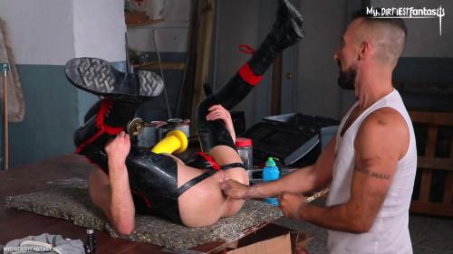 Gay BDSM Fisted Rubber Gimp Scene 2