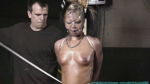 BDSM Bondage, domination and hogtie for very horny blonde part 1 Full HD1080