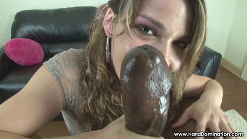 Femdom and Strapon Dirty Talking Southern Belle Milks Monster Load From Large Bull Penis