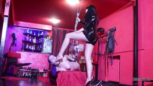 BDSM Mistress Iside - Foot Gagging Shock - Full HD 1080p