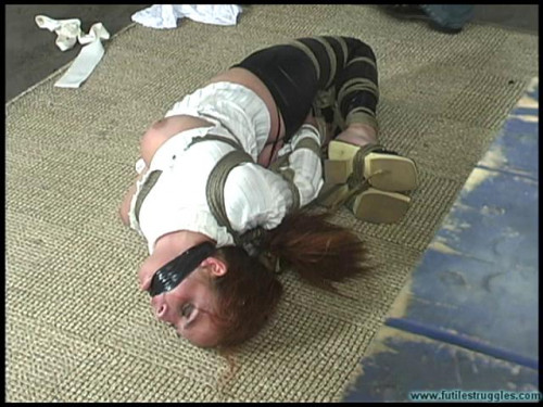 BDSM Ashley Graham Hogtied Tight, gagged 3X - Part 2