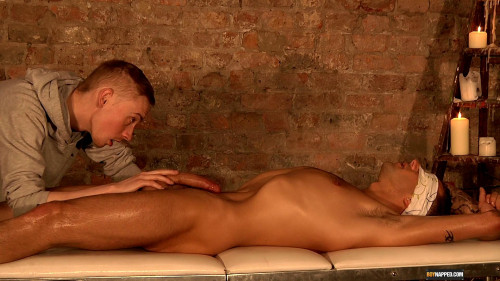 Gay BDSM Handsome New Arrival Drained Of Cum (Ashton Bradley, Dan Broughton)