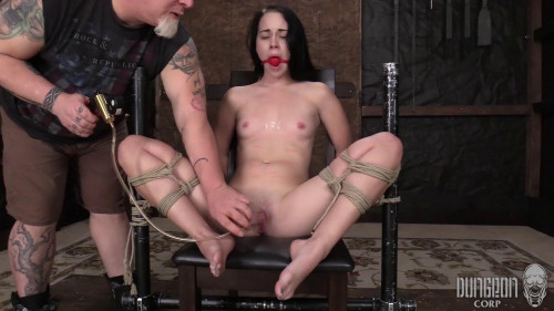 BDSM Bambi Black - The Helplessness of the Ropes part 2