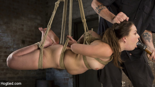 BDSM Pain Pixie Suffers in Grueling Bondage, is Tormented, and then Made to Cum